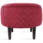 Nuanta tapiterie: Pouf Spica Electric Red