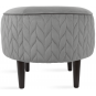 Nuanta tapiterie: Pouf Spica Light Smoke